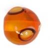 Glass Lamp Bead 10mm Orange